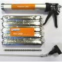 Kit CRD 5x600ml + pistolet CRD + foret SDS 30cm
