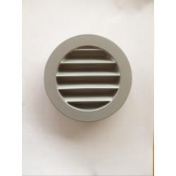 Grille de ventilation extérieure Alu gris diam. 100mm